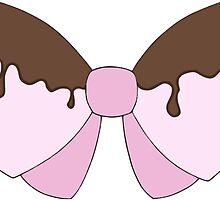 Pink chocolate bow sticker by Kuroyume