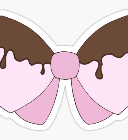 Pink chocolate bow sticker Sticker