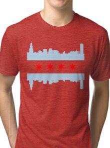 Chicago Flag Skyline Tri-blend T-Shirt