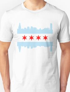 Chicago Flag Skyline Unisex T-Shirt