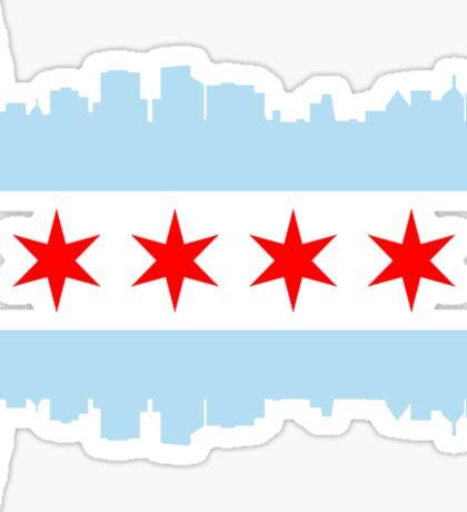Chicago Flag Skyline Sticker