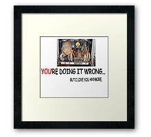 wrong1 Framed Print