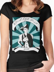 Radical Style Pirate Steampunk Women's Fitted Scoop T-Shirt