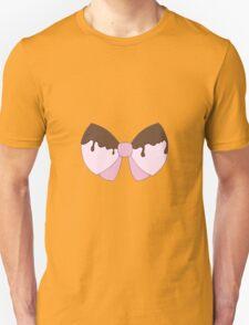 Big pink chocolate bow Unisex T-Shirt