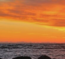 Brora Sunrise with The Five Sisters  Sticker