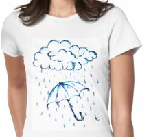 For Rainy Days Womens Fitted T-Shirt