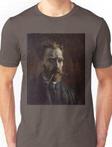 Vincent Van Gogh - Self-portrait with pipe, September 1886 - November 1886 Unisex T-Shirt