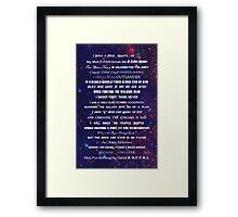 I Do Geek Framed Print