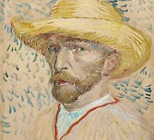 Vincent Van Gogh - Self-portrait with straw hat, March 1887 - June 1887 by famousartworks