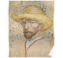 Vincent Van Gogh - Self-portrait with straw hat, March 1887 - June 1887 Poster