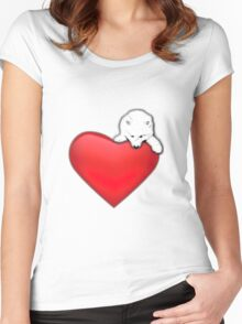 Samoyed's Heart Women's Fitted Scoop T-Shirt