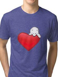 Samoyed's Heart Tri-blend T-Shirt