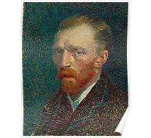 Vincent Van Gogh - Self-Portrait, 1887  Impressionism Poster