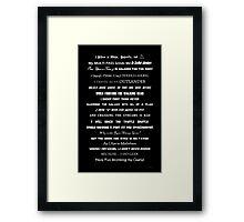 I Do Geek - Version 1 B&W Framed Print