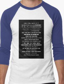 I Do Geek - Version 1 B&W Men's Baseball ¾ T-Shirt