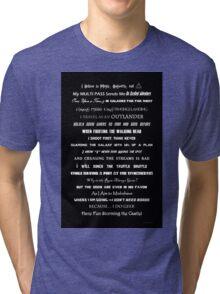 I Do Geek - Version 1 B&W Tri-blend T-Shirt