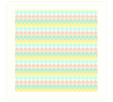 Scallop Pattern Repeat in 'Miami' Pastel Tones 8-Colorway Art Print