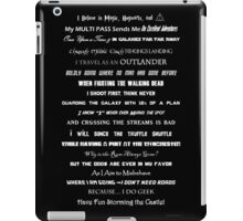 I Do Geek - Version 1 B&W iPad Case/Skin