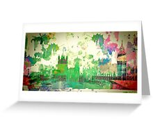 Westminster London, Water colour Greeting Card