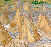 Vincent Van Gogh - Sheaves of Wheat, July 1890 by famousartworks