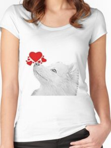 I smell Love in here Women's Fitted Scoop T-Shirt