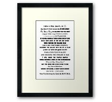 I Do Geek - Version 2 Framed Print