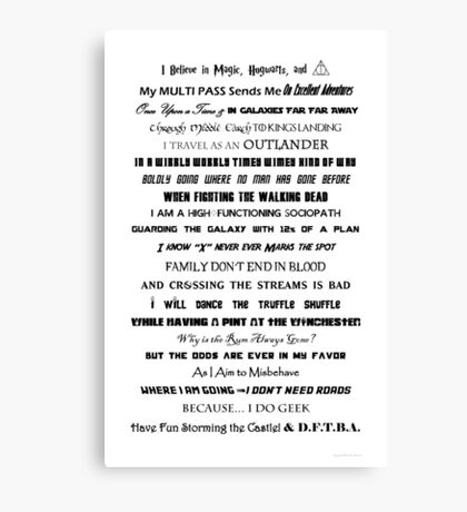 I Do Geek - Version 2 Canvas Print