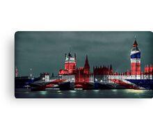 Westminster London England, UK Flag, Union Jack Canvas Print