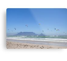 Kitesurfing Cape Town, South Africa Metal Print