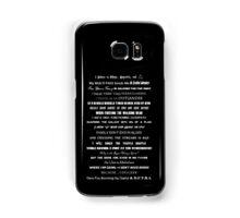 I Do Geek - Version 2 - B&W Samsung Galaxy Case/Skin