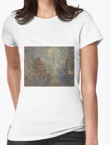 Vincent Van Gogh - Night after Millet, 1889 Womens Fitted T-Shirt