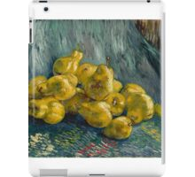 Vincent Van Gogh - Still Life with Quinces, 1888 - 1889 Impressionism iPad Case/Skin
