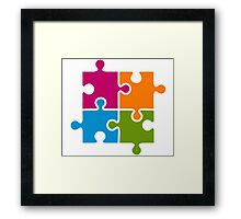 Hipster Puzzle Cool T-Shirts Framed Print