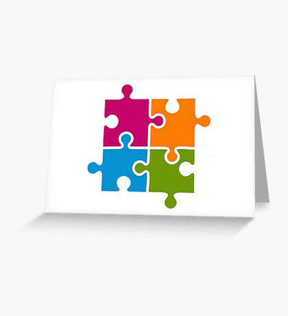 Hipster Puzzle Cool T-Shirts Greeting Card