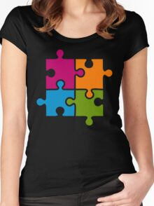 Hipster Puzzle Cool T-Shirts Women's Fitted Scoop T-Shirt