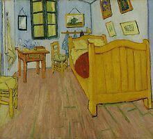 Vincent Van Gogh - The bedroom, October 1888 by famousartworks