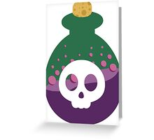 Cute Poison Bottle Greeting Card
