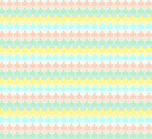 Scallop Pattern Repeat in 'Miami' Pastel Tones 8-Colorway by podartist