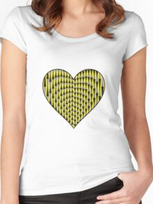 Up & Down Heart Women's Fitted Scoop T-Shirt