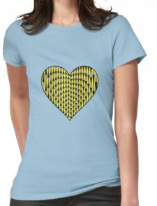 Up & Down Heart Womens Fitted T-Shirt