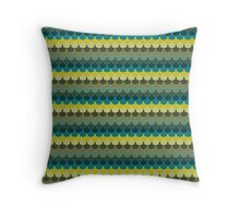 Scallop Pattern Repeat in 'New York' Dark Tones 8-Colorway  Throw Pillow