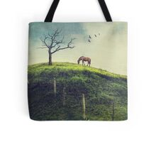 Horse on a Colombian Hillside Tote Bag