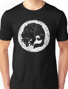 Woodcut Werewolf - White Moon Unisex T-Shirt