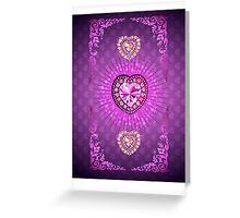 PURPLE PURPLE PURPLE HEARTS Greeting Card