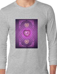 PURPLE PURPLE PURPLE HEARTS Long Sleeve T-Shirt