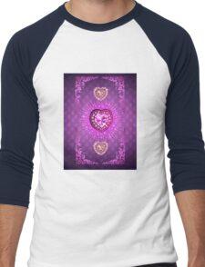 PURPLE PURPLE PURPLE HEARTS Men's Baseball ¾ T-Shirt