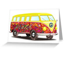 Hippie Van Peace Greeting Card