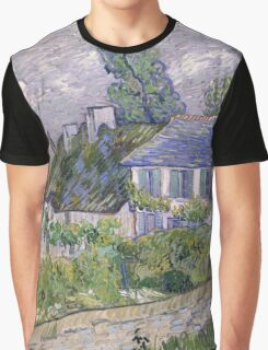 Vincent Van Gogh - Houses at Auvers, December 1885 - February 1886 Graphic T-Shirt
