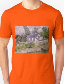 Vincent Van Gogh - Houses at Auvers, December 1885 - February 1886 T-Shirt
