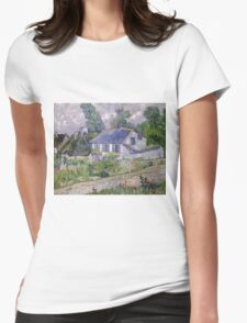 Vincent Van Gogh - Houses at Auvers, December 1885 - February 1886 Womens Fitted T-Shirt